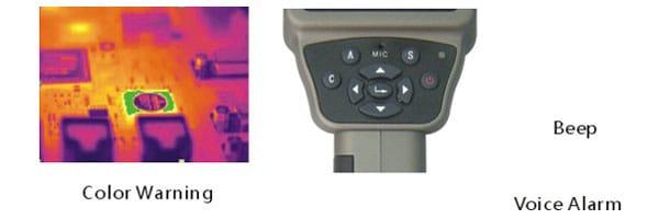 Colores de alarma - Micro integrado - Cámara Termográfica IRTE
