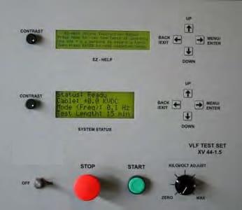 Panel de control del Probador portátil VLF (de muy baja frecuencia) Series AXV