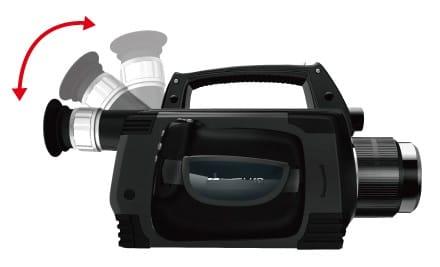 Asa y visor giratorios - Cámara termográfica de detección de Gas SF6 TC706