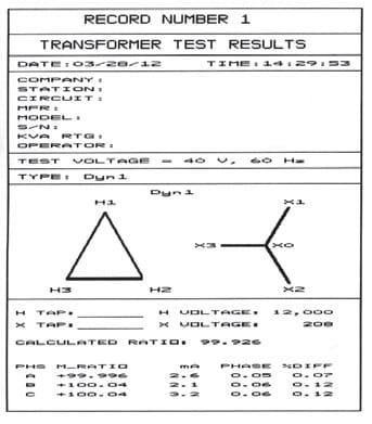 Test result Transformers Testing TTRT-03 S2