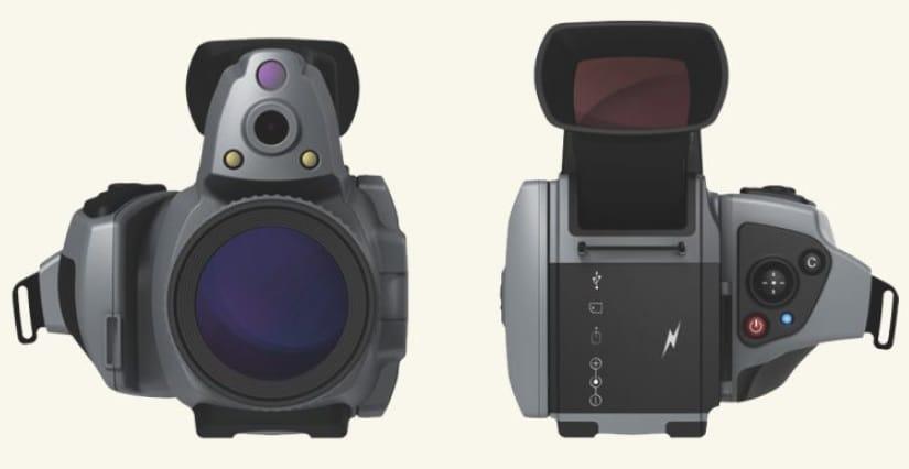 Vista frontal Cámara termográfica IRDL708 Series