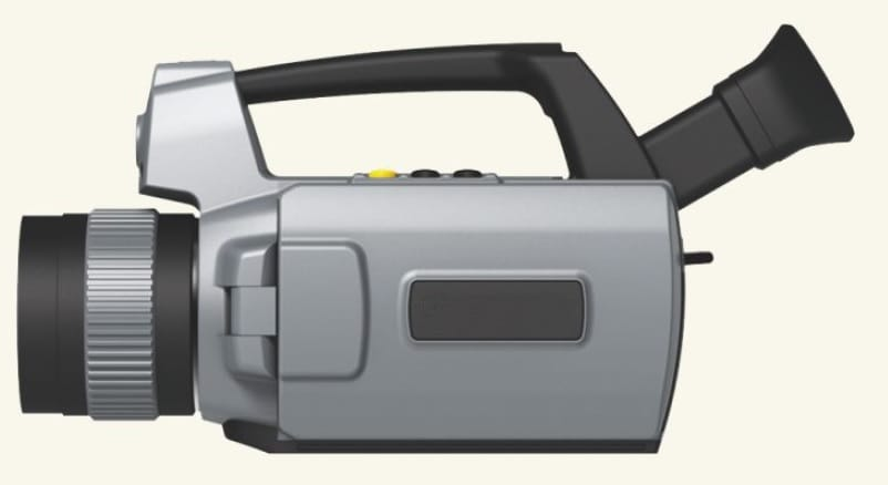 Vista lateral Cámaras termográficas IRDL708 Series